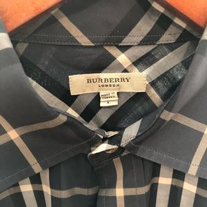 Classic Burberry Men's check shirt